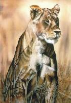 Online Art of artist Vanessa Gaye artwork titled Lioness